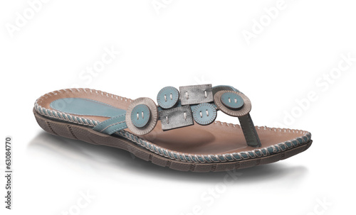 Nice woman sandal leather isolated on white