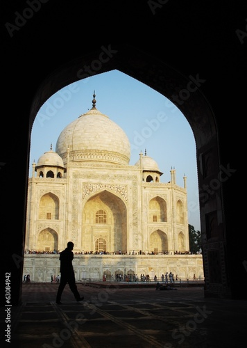 Taj Mahal in evening