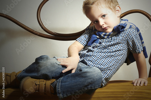 Child. Handsome little boy.Fashion Children.Emotion