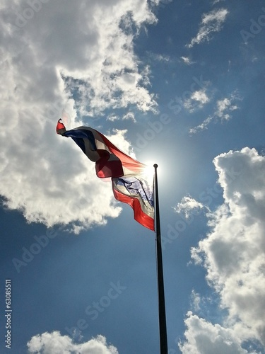 Thai Flag under Blue Sky