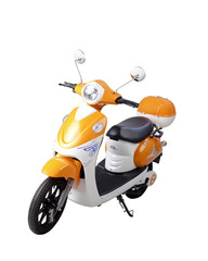 Electric motor bike isolated on white
