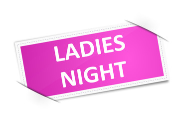 Schild Ladies Night