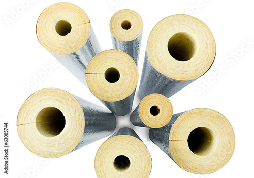 Top view insulator pipes the image isolated on white