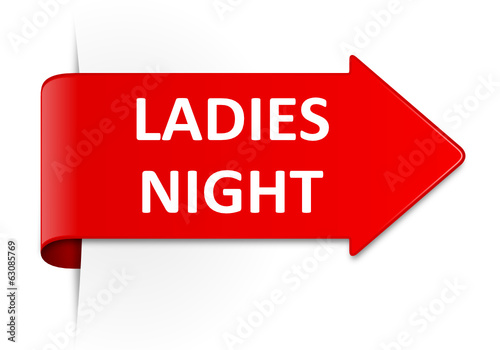 Schild rot Ladies Night