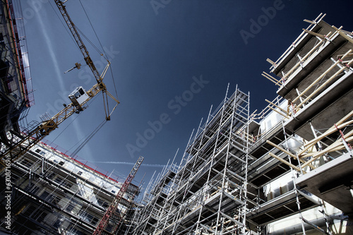 construction site, super-wide perspective and angles - 63087169