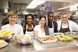 Fototapety Portrait Of Kitchen Staff In Homeless Shelter