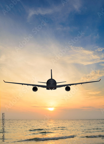 sunset airplane