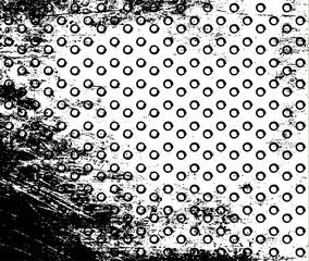 Vector grunge polka dot background.