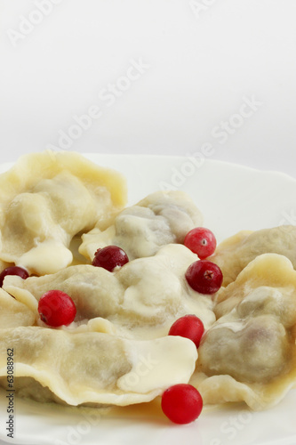dumplings with cherry