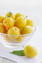 plum in bowl