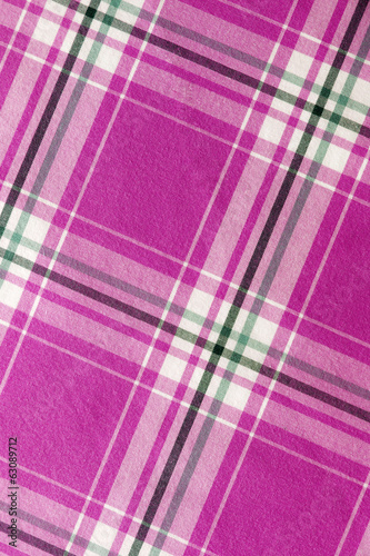 Pink checkered fabric