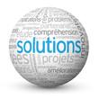 """Globe - Nuage de Tags """"SOLUTIONS"""" (réponses innovation idées)"""