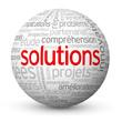 """Globe - Nuage de Tags """"SOLUTIONS"""" (réponses idées innovation)"""