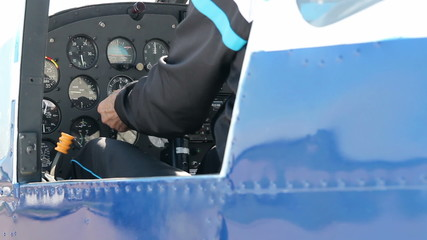 Instrument Panel of a Small Airplane
