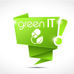 speech bubble : green IT with picto (cs5)