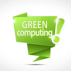 speech bubble : green computing (cs5)