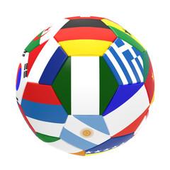 3D render of soccer football on white background