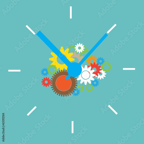 clock with gear as time for business concept