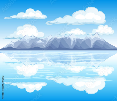 Mountain landscape view vector