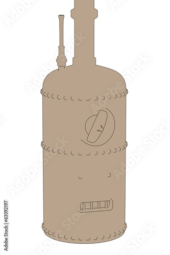 cartoon image of old boiler