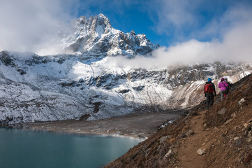 Trekking to Renjo pass, Everest region, Nepal