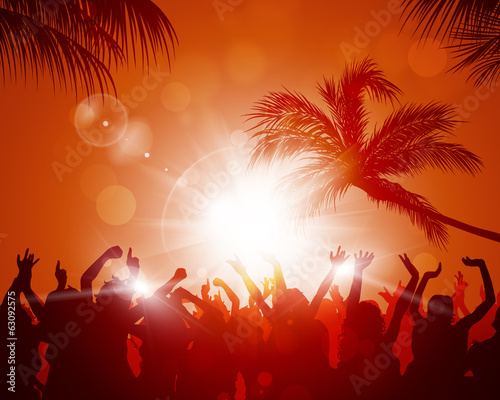 Beach Sunset Party