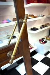 Shopping, mode, magasin, boutique, chaussures, entrée