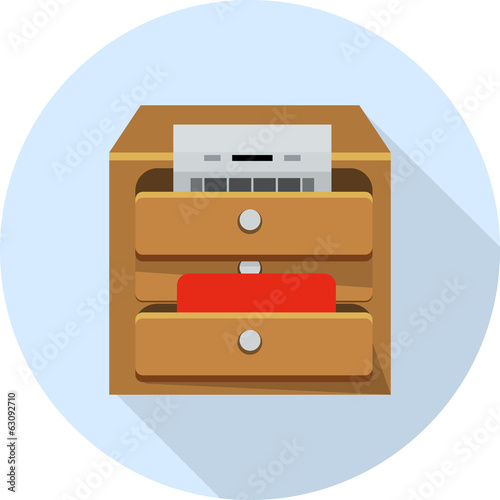 File Cabinet with Documents -drawer icon