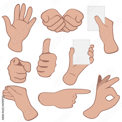 Vector Hands Set