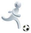 Soccer football person mascot