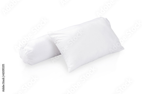 white pillow and bolster
