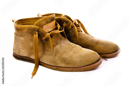 canvas print picture old fashioned brown boots