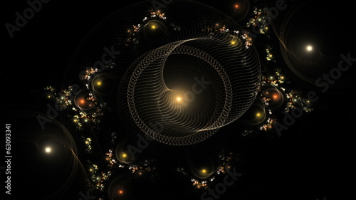 sparkling holiday colorful ornaments on black, seamless loop