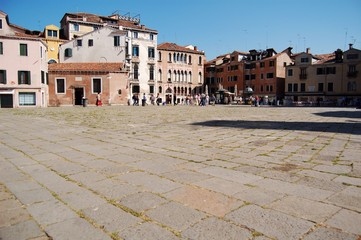 small square in an italian city