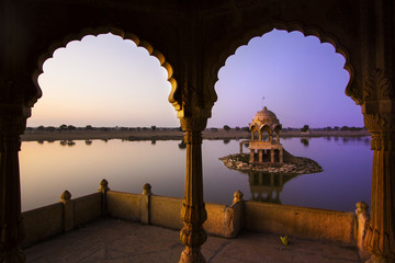 Gadi Sagar lake in Jaisalmer, Rajasthan, India
