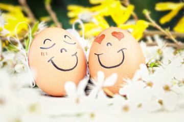 bemalte Eier