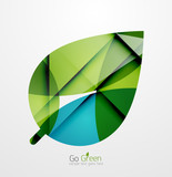 Fototapety Abstract green leaf concept