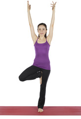 Woman in Tree Pose during Yoga