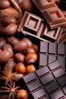 uova pasquali e cioccolato assortito sul tavolo di legno