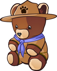 Cub Scout Teddy Bear Cartoon Character