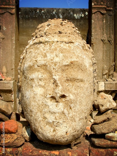 Face of Buddha erode
