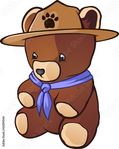 Teddy Bear Cub Scout Cartoon Character