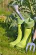 botte en caoutchouc pour jardinage