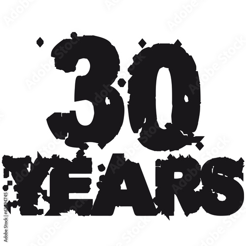Years 30 Kaputt Alt Graffiti Stempel