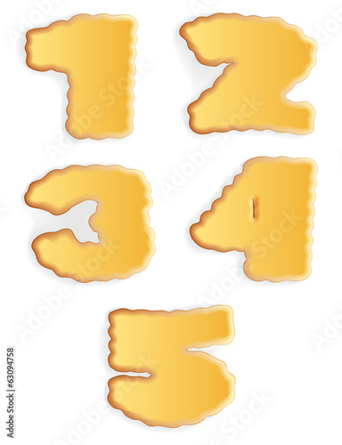 Vector appetizing figures of cracker biscuits