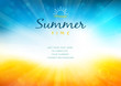 Summer time background with text - illustration - 63095130