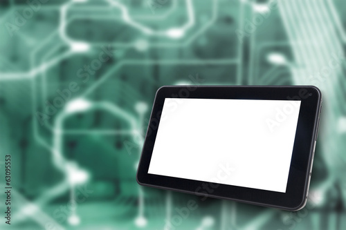 Digital Tablet with Electronic background