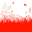 Blumenwiese, Gras, Silhouette, Grass, Hayfield, Springtime, EPS