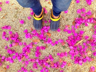walk with flowers