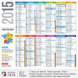 Calendrier 2015, vacances scolaires, zones scolaires, académies